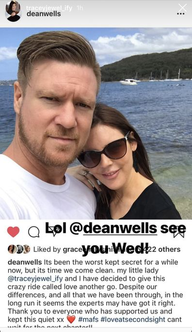 Dean Wells and Tracey Jewel
