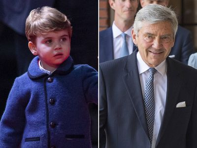 Prince Louis and grandfather Michael Middleton