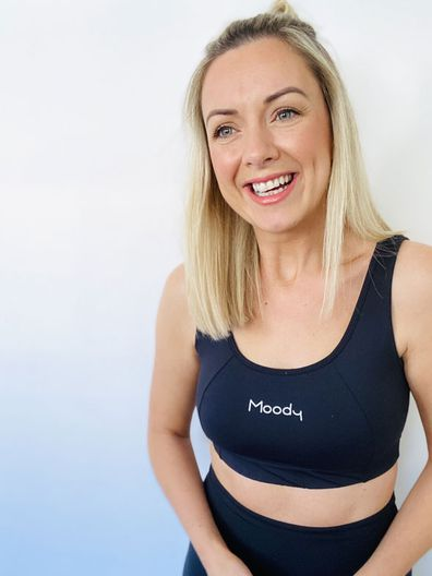 Louise McCann creator of activewear brand Moody, which donates profits to mental health charities