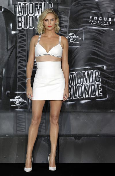 Charlize Theron at the <em>Atomic Blonde</em>&nbsp; premiere in Germany in July, 2017&nbsp;