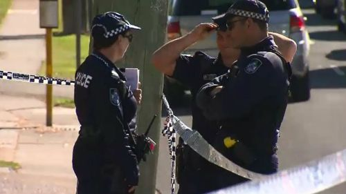 The police investigation continued well into the morning. Picture: 9NEWS