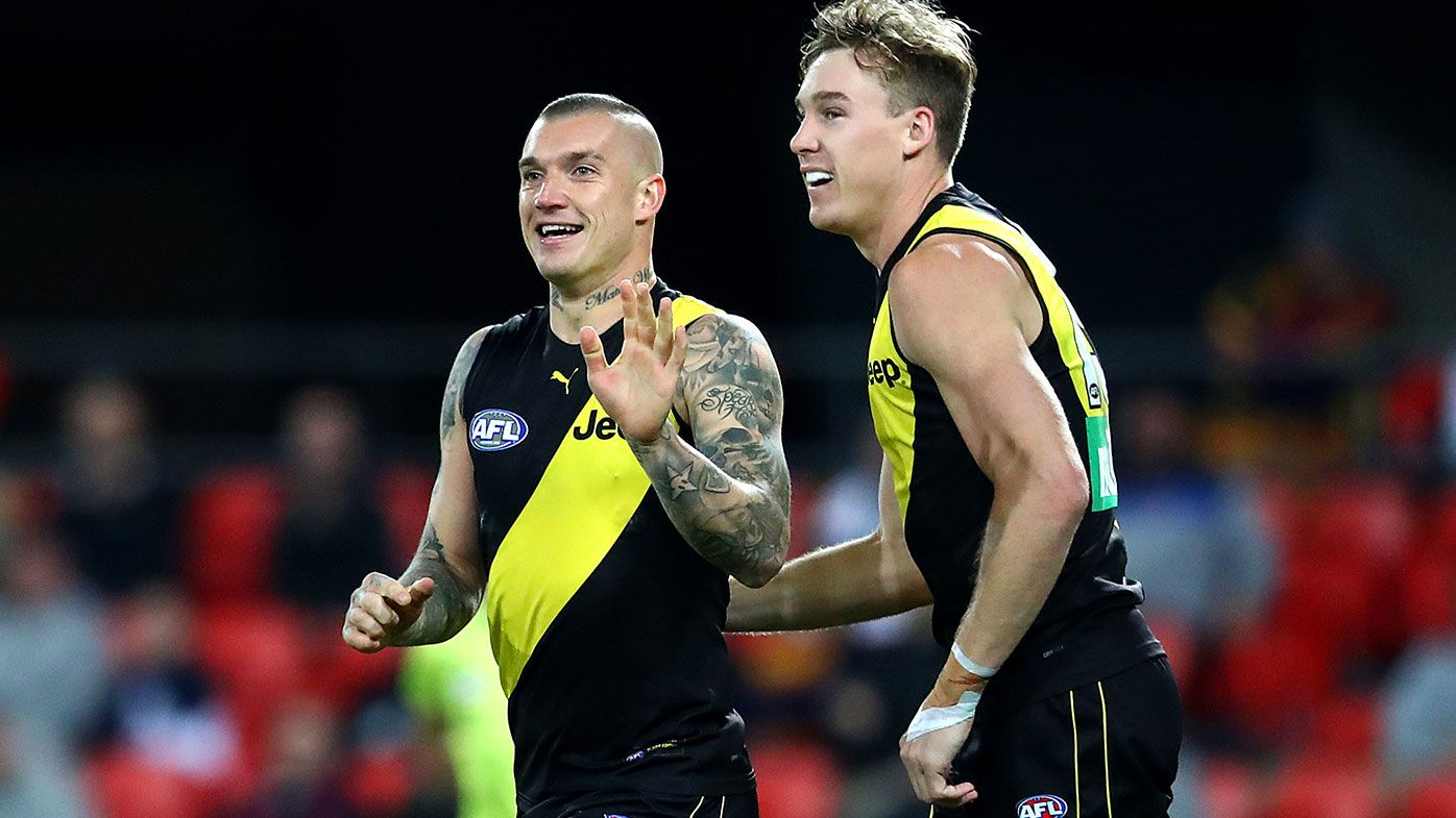 Dustin Martin and Tom Lynch