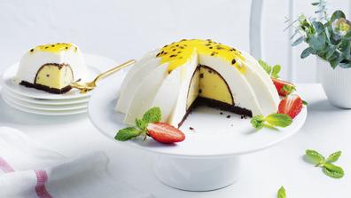 Coles passionfruit mousse dessert