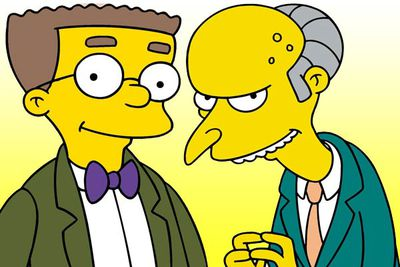 """<B>The URST:</B> One of <I>The Simpsons</I>' longest-running gags is that Waylon Smithers is secretly in love with Mr Burns — """"Burns-sexual"""", as the show's producers have dubbed it. But one episode revealed that Burns actually raised Smithers as a baby, transforming the crush from funny to just plain creepy."""