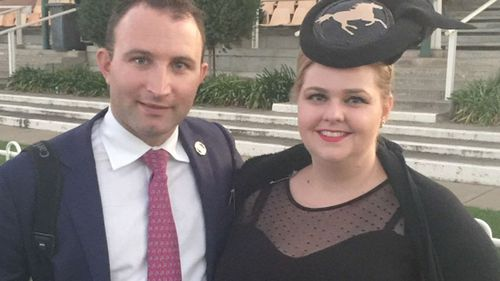 Brett Joseph and ex-partner Daisy Armstrong.