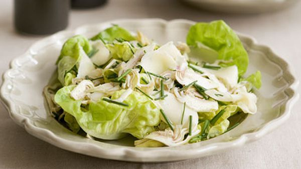 Shaved artichoke, butter lettuce and fontina salad