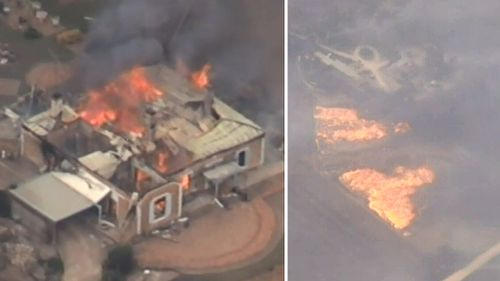 At least 16 homes have been burned down. (9NEWS)