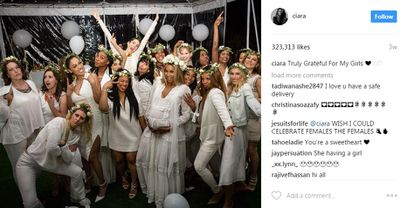 Ciara and her girl squad celebrating the baby to be. Might there be two reasons to celebrate? Fans think so.