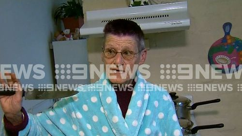 Marla Priest described her terror when three men broke into her Sydney home and threatened her with a large blade.