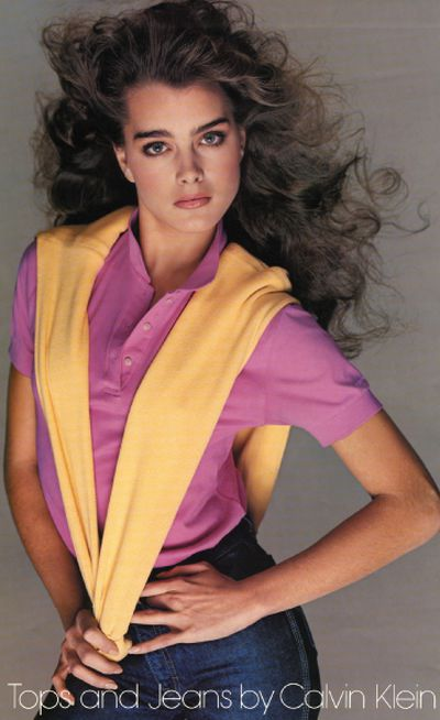 Brooke Shields appeared in Calvin Klein's print and television campaigns in the early eighties.