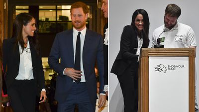 Harry and Meghan attend the Endeavour Fund Awards, 1 February 2018