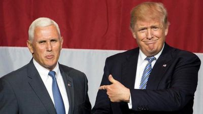 """Mr Trump formally introduced his running mate, Indiana Governor Mike Pence on July 16, describing him as a """"solid"""" man and a unifying figure."""