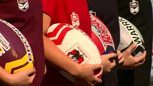 The Broncos, Roosters, Dragons and Warriors are the founding clubs for the NRL women's competition. (9NEWS)