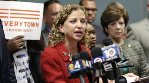 Debbie Wasserman Schultz was booed off stage at the DNC after her leaked emails went public hours before the convention. (AAP)
