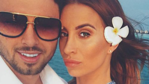 Arthur Collins and his ex-girlfriend, 'The Only Way is Essex' star Ferne McCann. (Supplied)