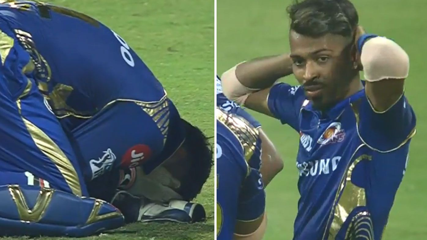 Mumbai Indians wicketkeeper Ishan Kishan cops nasty blow to head in IPL match against Royal Challengers Bangalore