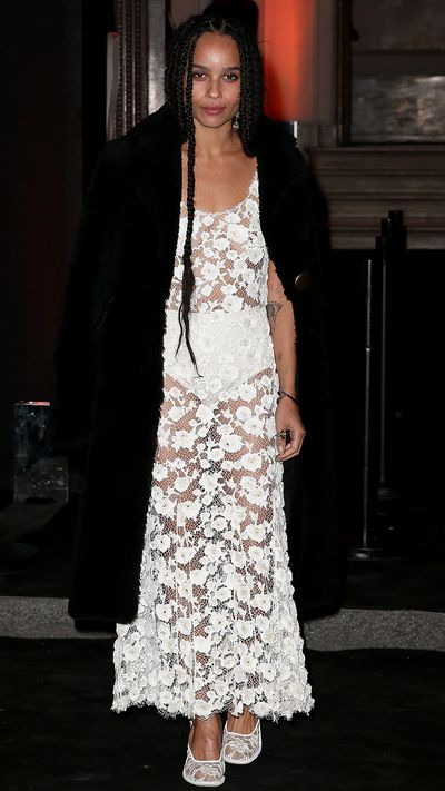 In Balenciaga at the US Vogue 95th Anniversary Party.