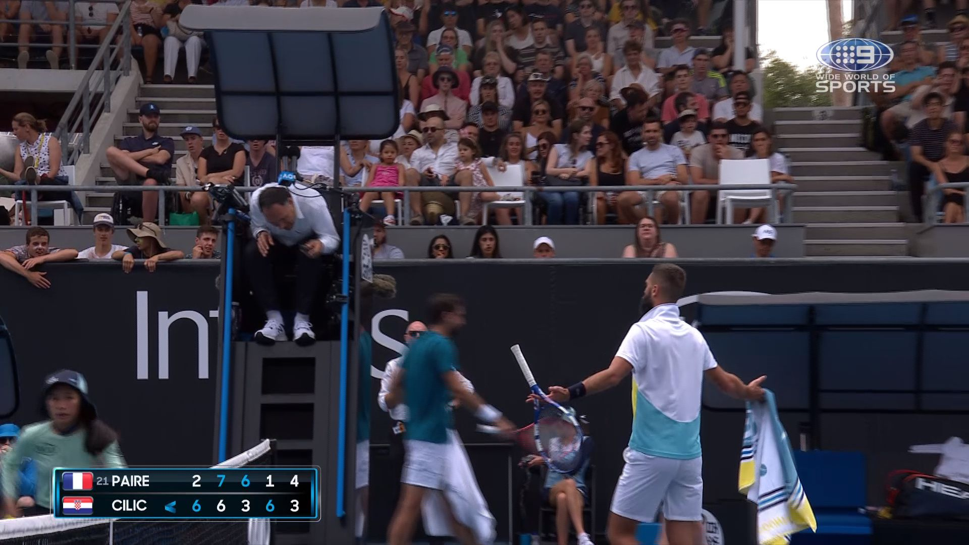 Benoit Paire's crowd taunt backfires in spectacular fashion in fifth-set tiebreak choke against Marin Cilic