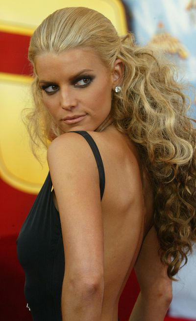 Jessica Simpson at the 2005 MTV Movie Awards in Los Angeles, June, 2005
