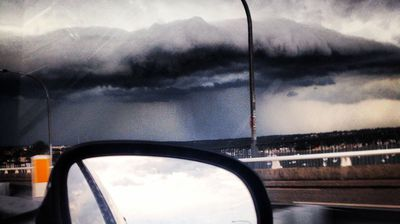 A motorist in the Sutherland Shire felt compelled to stop and photograph the coming storm. (Aleysha Matthews)