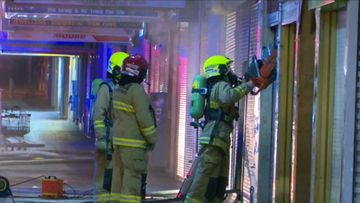 Newsagency goes up in flames on 'big Lotto day'