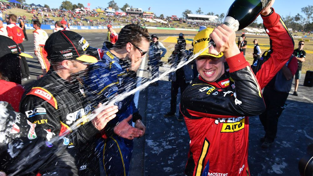 Chaz Mostert holds off Scott McLaughlin for Supercars win at Ipswich