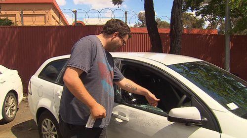 A man allegedly smashed the window of the driver's car with a baseball bat, a week later a cleaner was terrorised in a violent car-jacking.