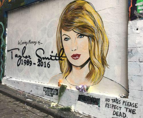 The full mural on Hosier Lane. (Supplied: Simone Simmons)