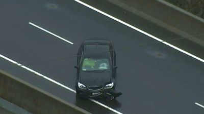 A vehicle involved in an accident in west Sydney. (9NEWS)