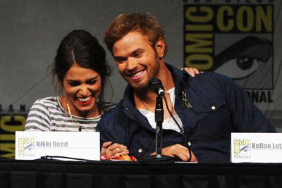 Nikki Reed and Kellan Lutz seem pretty happy about no longer rocking <i>Twilight</i> vampire moon tans.