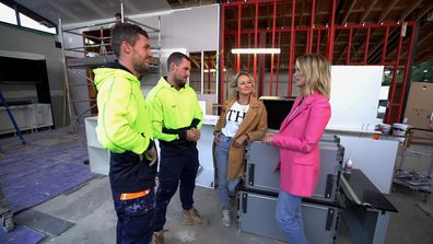 Delta Goodrem arrives on site to help the teams prepare for their lip syncs
