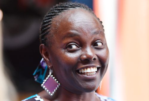 South Australian senator Lucy Gichuhi has made her first public appearance since defecting to the Liberal Party. (AAP)
