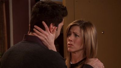 Ross and Rachel get together in the final episode of Friends.