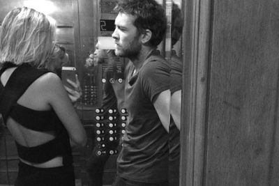 "What happens in elevators stays in elevators... unless you're social media Insta-love splasher Lara Bingle!<br/><br/>The Aussie model posted this Instagram shot with actor beau Sam Worthington, with the simple caption: ""#elevatorlove.""<br/><br/>There's no slowing down for this pair's romance... it seems they're on the up."
