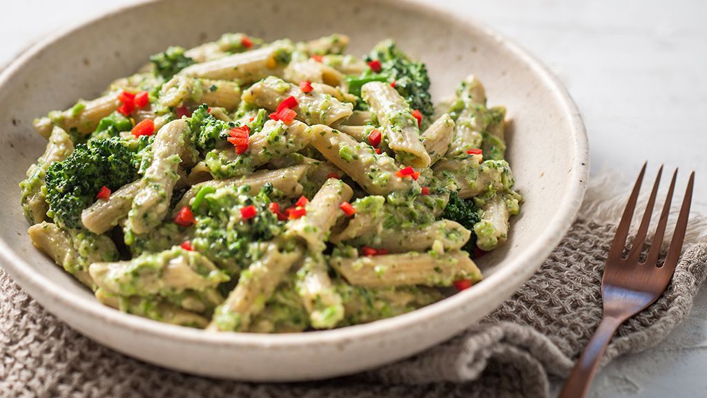Vegan pesto pasta with broccolini recipe by San Remo
