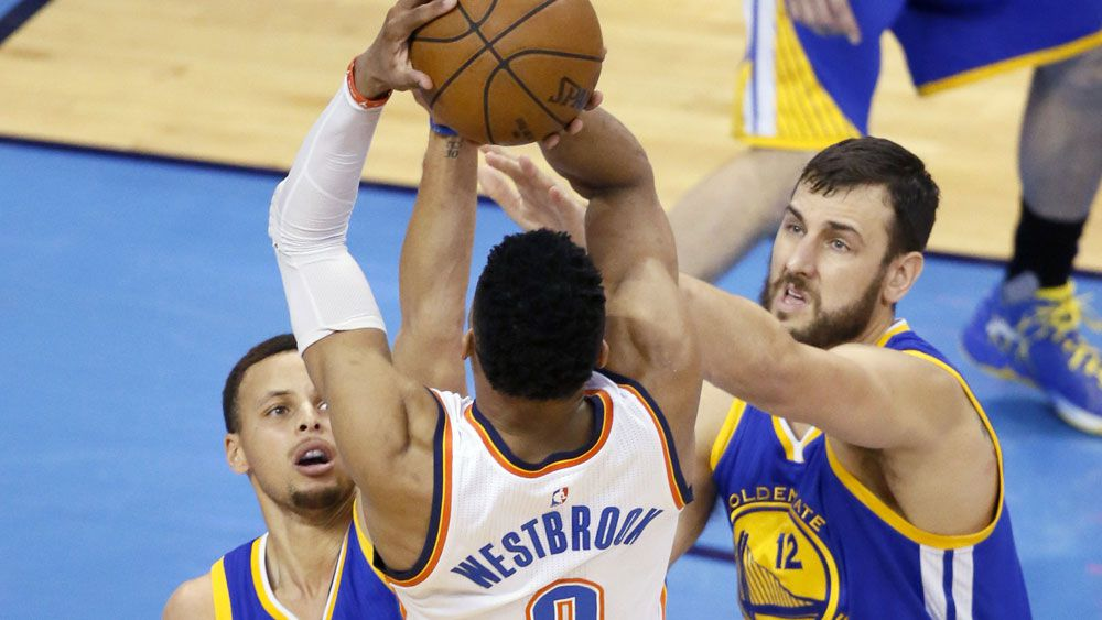 Russell Westbrook starred for  OKC one again. (AAP)