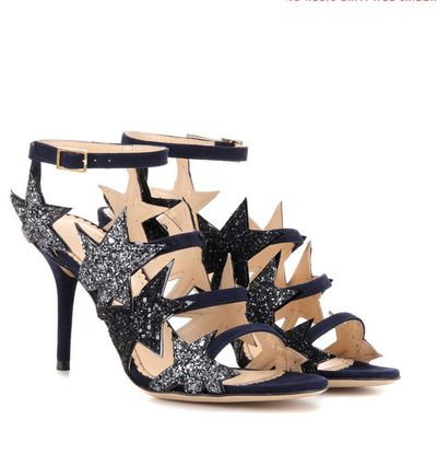 """<a href=""""http://www.mytheresa.com/en-au/twinkle-toes-embellished-suede-sandals-661821.html?catref=category"""" target=""""_blank"""">Charlotte Olympia</a> twinkle toe sandals, $1289"""