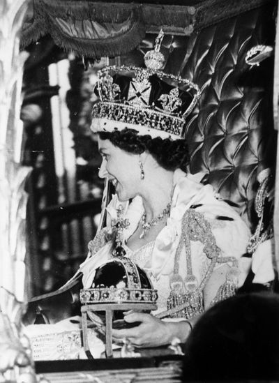 <p>Queen Elizabeth's coronation</p>