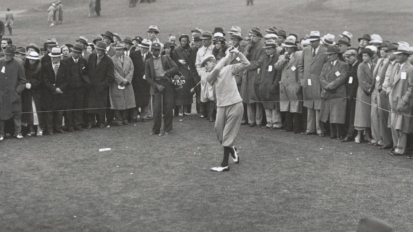 Horton Smith on the way to winning the 1934 US Masters.