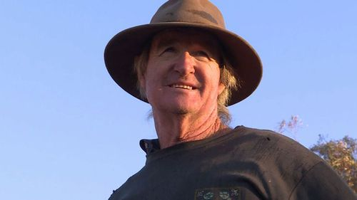 Les Jones on his farm in regional NSW.