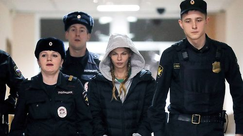 The model, Anastasia Vashukevich, was detained at Moscow's Sheremetyevo Airport last Thursday on prostitution allegations after being deported from Thailand, where she had spent nearly a year behind bars for soliciting.