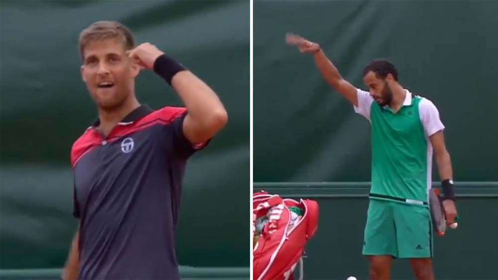 French tennis player shoos away handshake after ugly confrontation at French Open