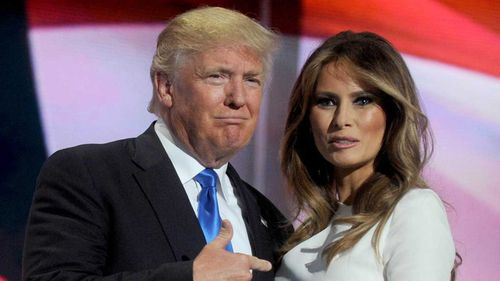 Donald Trump with wife Melania. (AP)