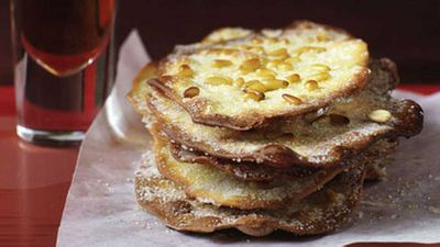 """Click through for our&nbsp;<a href=""""http://kitchen.nine.com.au/2016/05/19/15/55/caramelised-pine-nut-pastries"""" target=""""_top"""">Caramelised pine nut pastries</a>"""