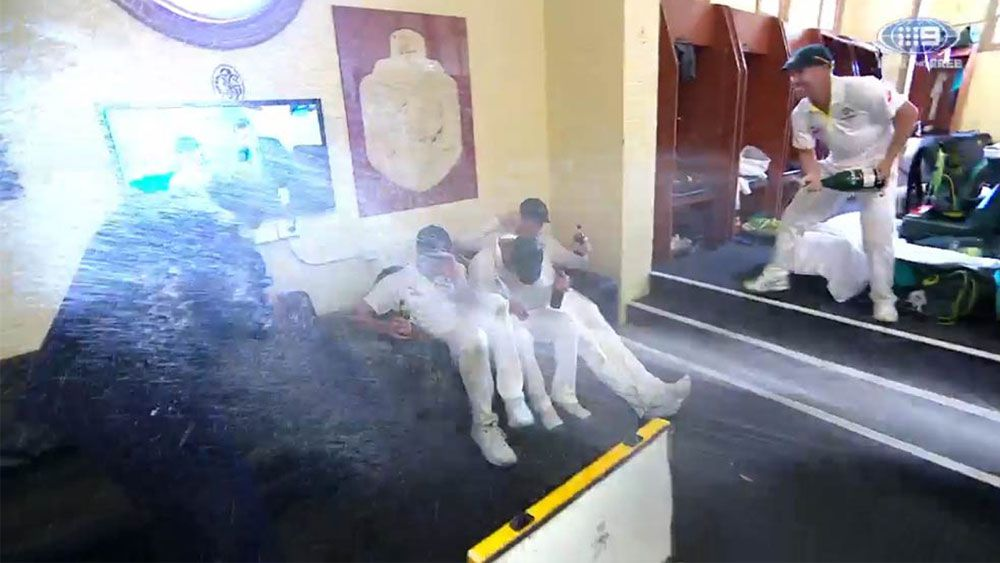 Mark Taylor cops spray from Australia's cricketers in dressing room