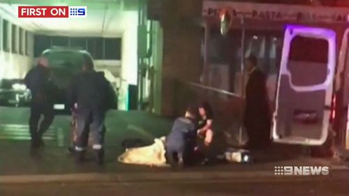 Mann attacked Ms Atkinson and Mr Sampson with a tyre lever at a Parramatta carpark. (9NEWS)