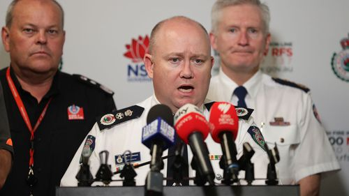 NSW Rural Fire Service Commissioner Shane Fitzsimmons talks to media at the NSW Rural Fire Service Headquarters at Sydney Olympic Park on December 21, 2019 in Sydney, Australia