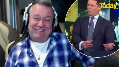 Rock legend Jimmy Barnes and Today host Karl Stefanovic bonded over their shared love for a musical instrument.