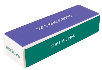 """<a href=""""http://www.manicare.com.au/manicare/shop-our-products-/bestsellers-/nail-tools/p/buffer-4-way/93500.html"""" target=""""_blank"""">Manicare 4 Way Buffer, $9.50.</a><br /> Produced to shape, buff and shine just in case you can&rsquo;t get a manicure any time soon. Or um &hellip; ever."""