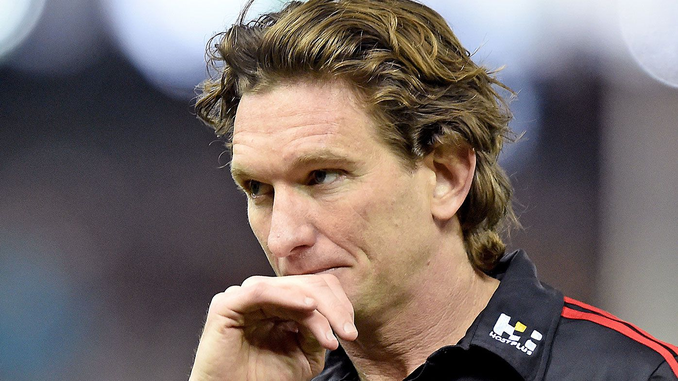 David King reveals the spray he copped from James Hird during an Essendon match